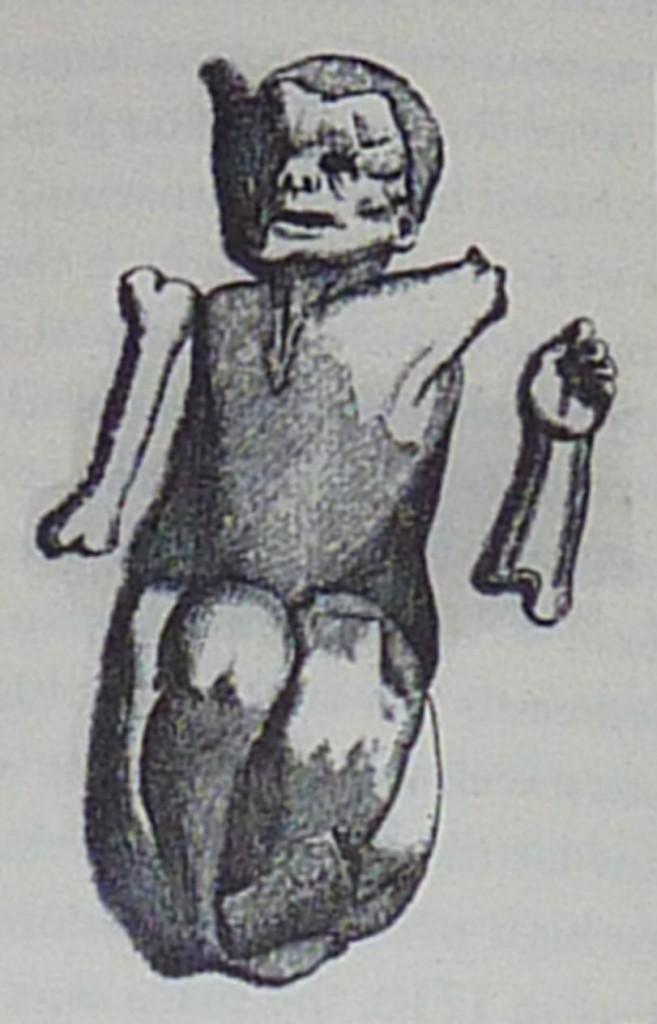 Steinkind von Sens - Bartholin 1656 (Public Domain)