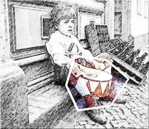 """""""Schließlich schlägt der Mensch auf Pauken, Becken, Kessel und Trommeln. Er spricht von Trommelrevolvern, vom Trommelfeuer, man trommelt jemanden heraus, man trommelt zusammen, man trommelt ins Grab."""" – Die Blechtrommel"""