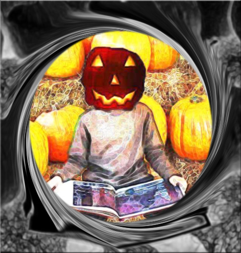 Pumpkin Reading (c) Wendigogo 2013